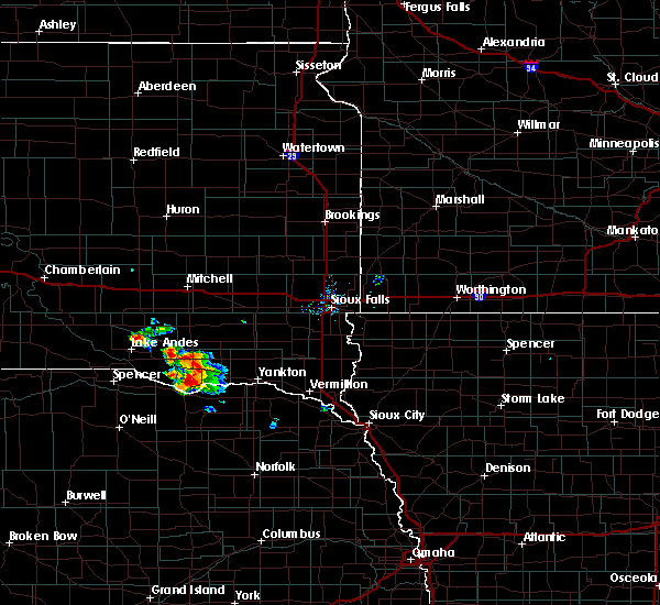 Radar Image for Severe Thunderstorms near Springfield, SD at 7/17/2020 8:04 AM CDT