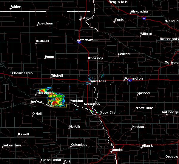 Radar Image for Severe Thunderstorms near Springfield, SD at 7/17/2020 8:24 AM CDT