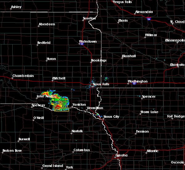 Radar Image for Severe Thunderstorms near Springfield, SD at 7/17/2020 8:29 AM CDT