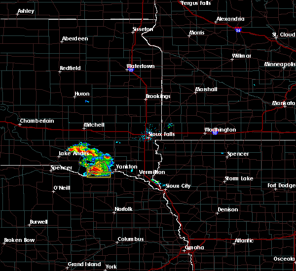 Radar Image for Severe Thunderstorms near Springfield, SD at 7/17/2020 8:36 AM CDT