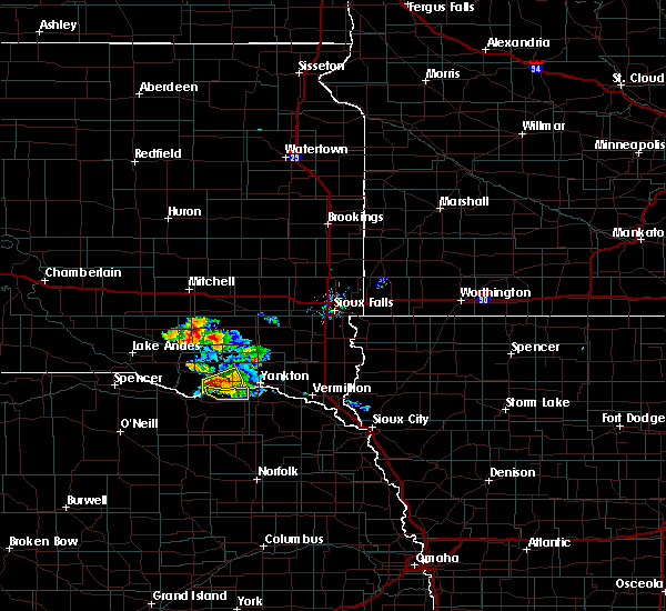Radar Image for Severe Thunderstorms near Springfield, SD at 7/17/2020 8:47 AM CDT