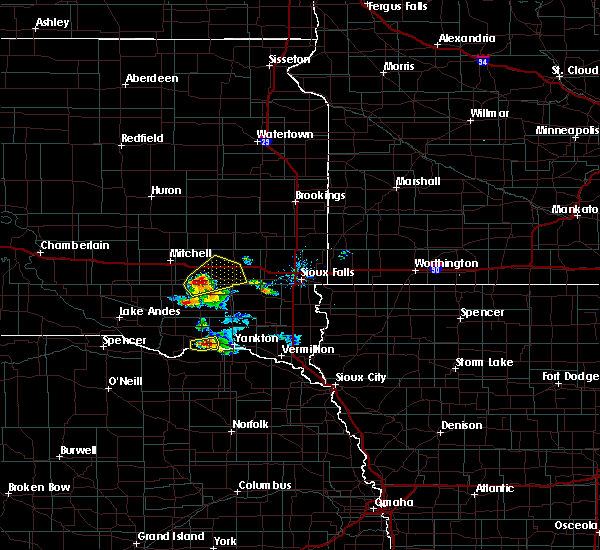 Radar Image for Severe Thunderstorms near Emery, SD at 7/17/2020 9:16 AM CDT