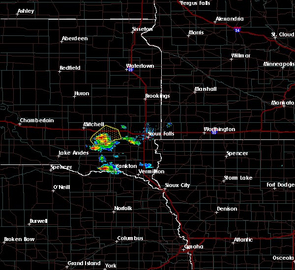 Radar Image for Severe Thunderstorms near Emery, SD at 7/17/2020 9:27 AM CDT