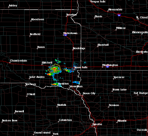 Radar Image for Severe Thunderstorms near Emery, SD at 7/17/2020 9:40 AM CDT