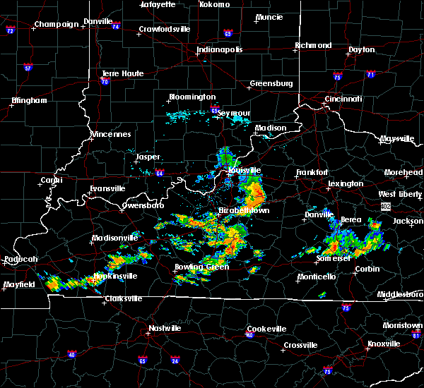 Radar Image for Severe Thunderstorms near Taylorsville, KY at 7/17/2020 12:38 PM EDT