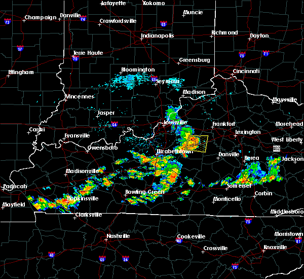 Radar Image for Severe Thunderstorms near Bloomfield, KY at 7/17/2020 12:56 PM EDT