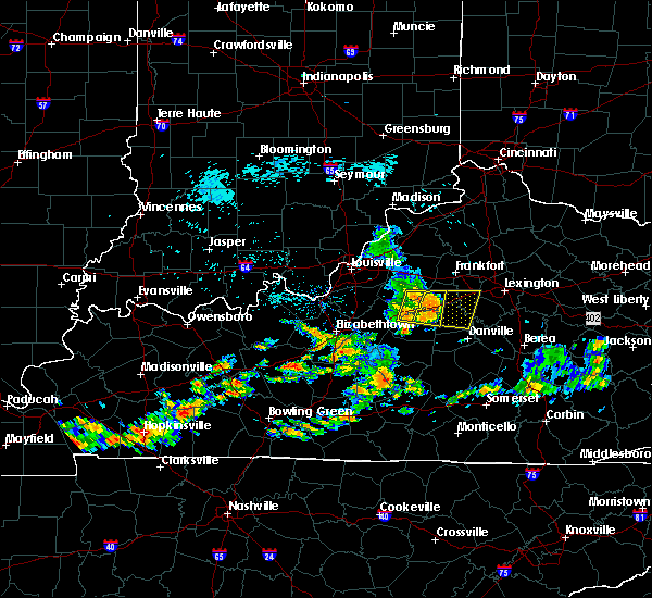 Radar Image for Severe Thunderstorms near Bloomfield, KY at 7/17/2020 1:14 PM EDT