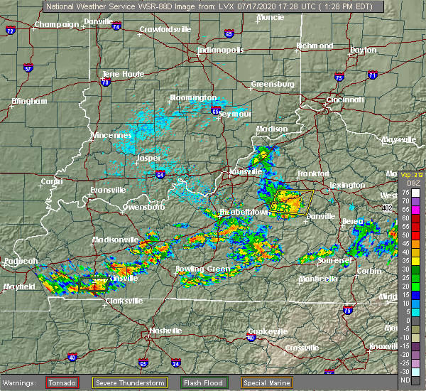 Radar Image for Severe Thunderstorms near Burgin, KY at 7/17/2020 1:29 PM EDT