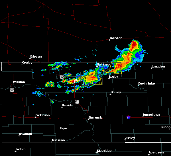 Radar Image for Severe Thunderstorms near Bisbee, ND at 7/17/2020 2:04 PM CDT