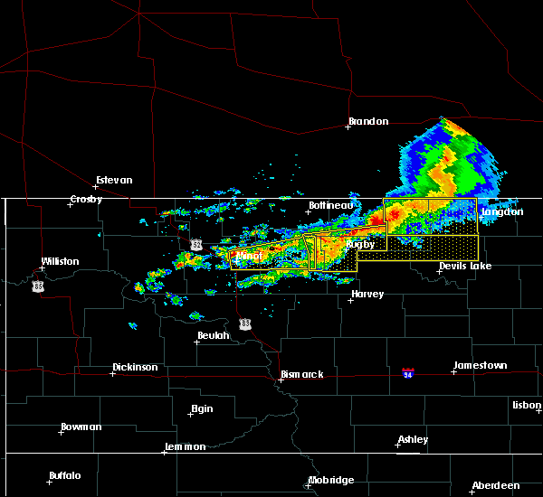 Radar Image for Severe Thunderstorms near Bisbee, ND at 7/17/2020 2:29 PM CDT