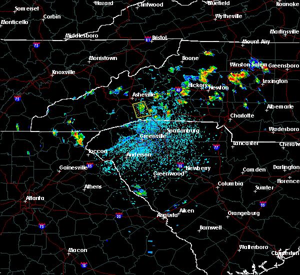 Radar Image for Severe Thunderstorms near Edneyville, NC at 7/17/2020 3:40 PM EDT