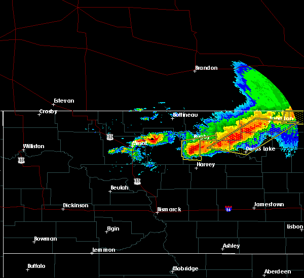 Radar Image for Severe Thunderstorms near Brinsmade, ND at 7/17/2020 3:24 PM CDT
