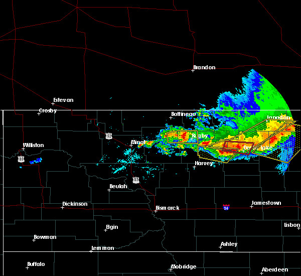 Radar Image for Severe Thunderstorms near Barton, ND at 7/17/2020 4:00 PM CDT