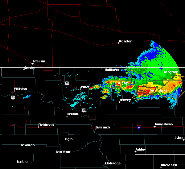 Radar Image for Severe Thunderstorms near Barton, ND at 7/17/2020 4:10 PM CDT