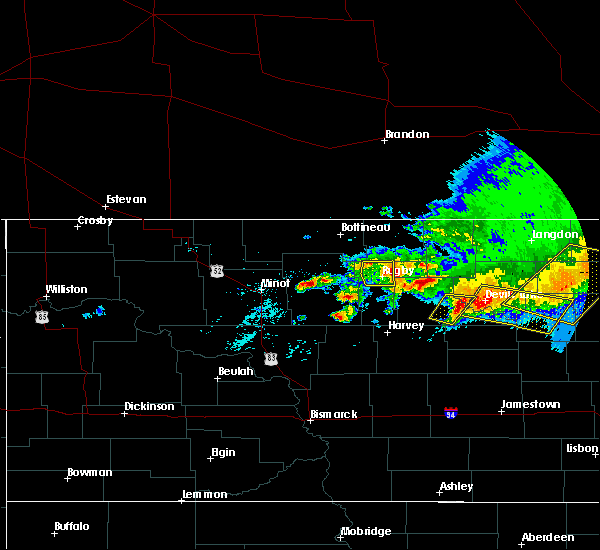 Radar Image for Severe Thunderstorms near York, ND at 7/17/2020 4:16 PM CDT