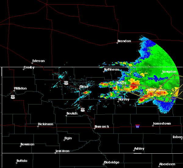 Radar Image for Severe Thunderstorms near York, ND at 7/17/2020 4:42 PM CDT
