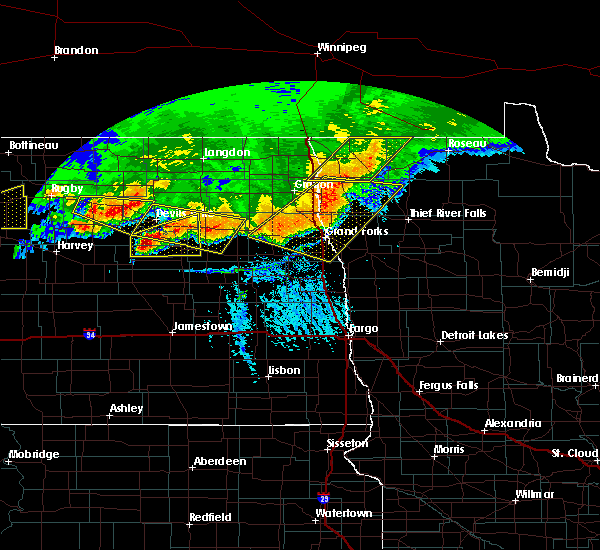 Radar Image for Severe Thunderstorms near Thief River Falls, MN at 7/17/2020 5:01 PM CDT