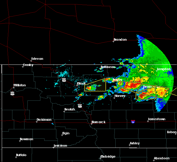Radar Image for Severe Thunderstorms near Brinsmade, ND at 7/17/2020 5:00 PM CDT