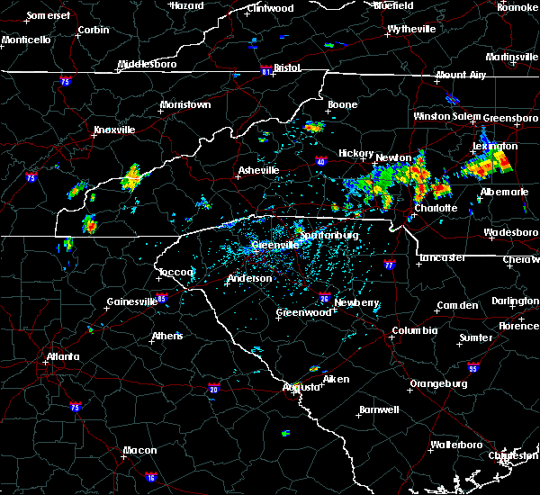 Radar Image for Severe Thunderstorms near Concord, NC at 7/17/2020 6:13 PM EDT