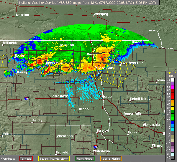 Radar Image for Severe Thunderstorms near Brinsmade, ND at 7/17/2020 5:13 PM CDT
