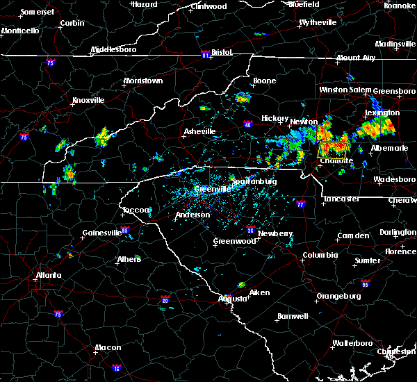Radar Image for Severe Thunderstorms near Landis, NC at 7/17/2020 6:22 PM EDT