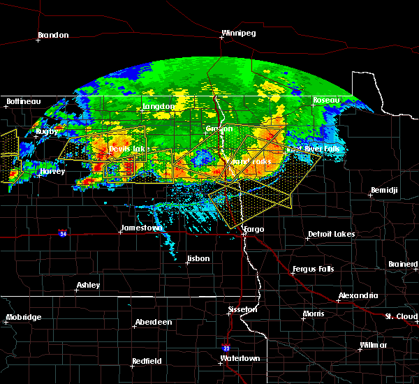 Radar Image for Severe Thunderstorms near Michigan City, ND at 7/17/2020 5:36 PM CDT