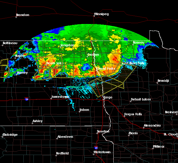 Radar Image for Severe Thunderstorms near Fort Totten, ND at 7/17/2020 5:42 PM CDT