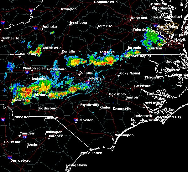 Radar Image for Severe Thunderstorms near Concord, NC at 7/17/2020 7:03 PM EDT