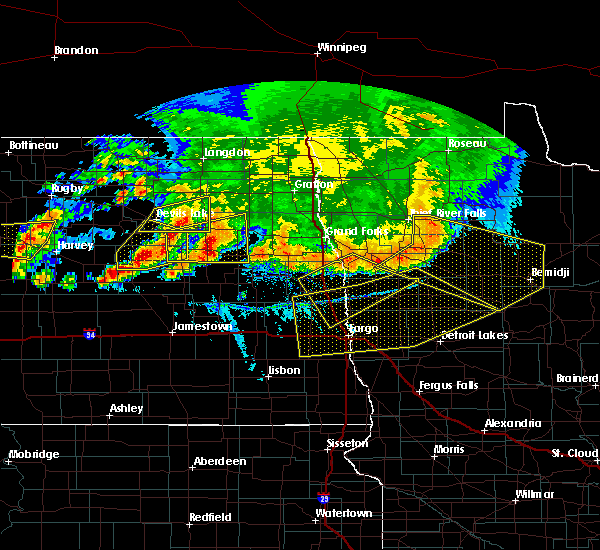 Radar Image for Severe Thunderstorms near Michigan City, ND at 7/17/2020 6:05 PM CDT