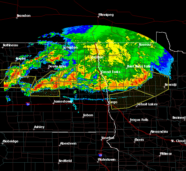 Radar Image for Severe Thunderstorms near Michigan City, ND at 7/17/2020 6:29 PM CDT