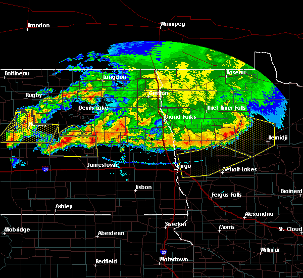 Radar Image for Severe Thunderstorms near Finley, ND at 7/17/2020 6:38 PM CDT