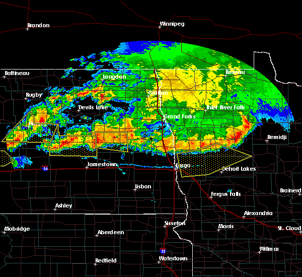 Radar Image for Severe Thunderstorms near Finley, ND at 7/17/2020 6:53 PM CDT