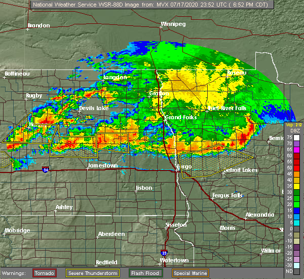 Radar Image for Severe Thunderstorms near Sutton, ND at 7/17/2020 7:04 PM CDT