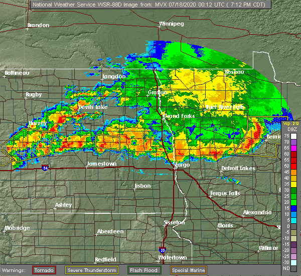 Radar Image for Severe Thunderstorms near Sutton, ND at 7/17/2020 7:14 PM CDT