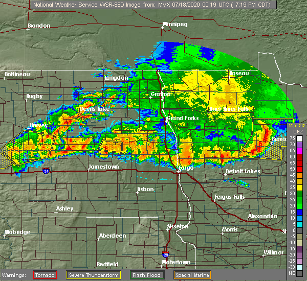 Radar Image for Severe Thunderstorms near White Earth, MN at 7/17/2020 7:26 PM CDT
