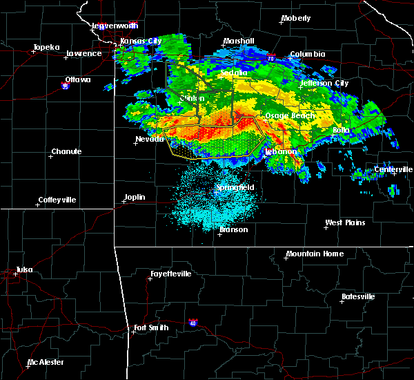 Radar Image for Severe Thunderstorms near Humansville, MO at 7/1/2015 3:36 AM CDT