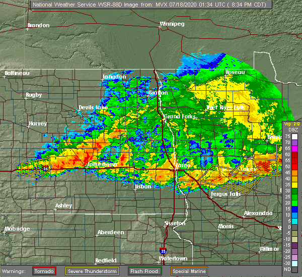 Radar Image for Severe Thunderstorms near Jud, ND at 7/17/2020 8:41 PM CDT