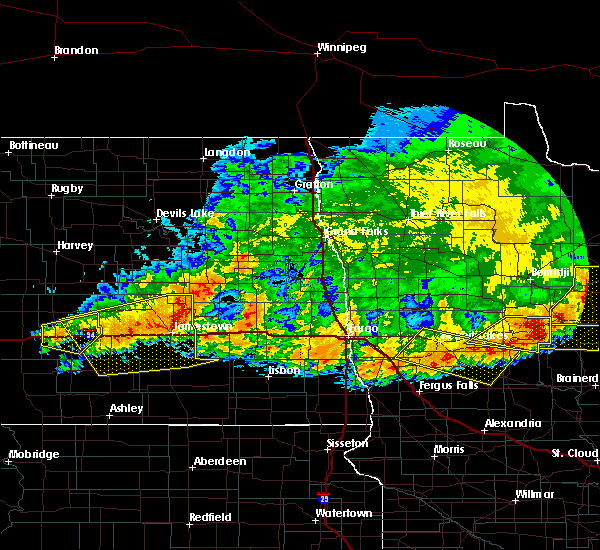 Radar Image for Severe Thunderstorms near Leal, ND at 7/17/2020 8:46 PM CDT