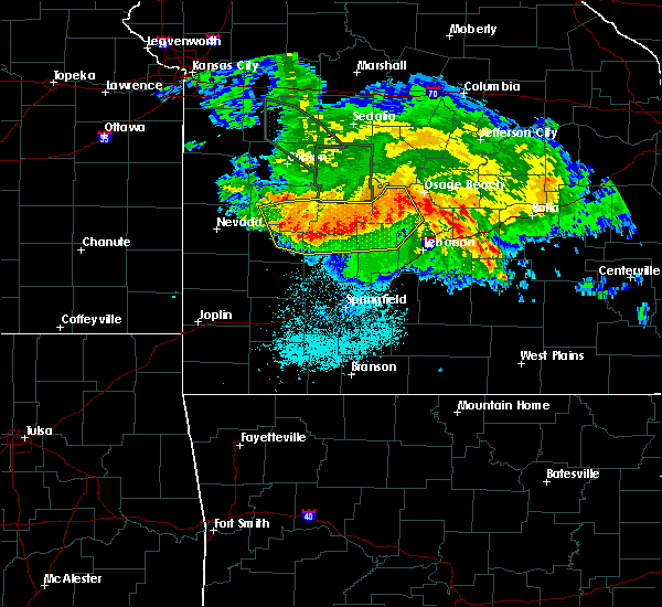 Radar Image for Severe Thunderstorms near Bennett Springs, MO at 7/1/2015 3:50 AM CDT