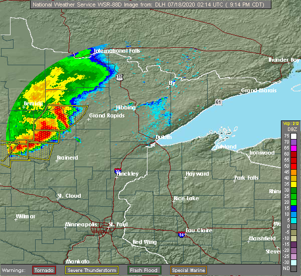 Radar Image for Severe Thunderstorms near Ironton, MN at 7/17/2020 9:24 PM CDT
