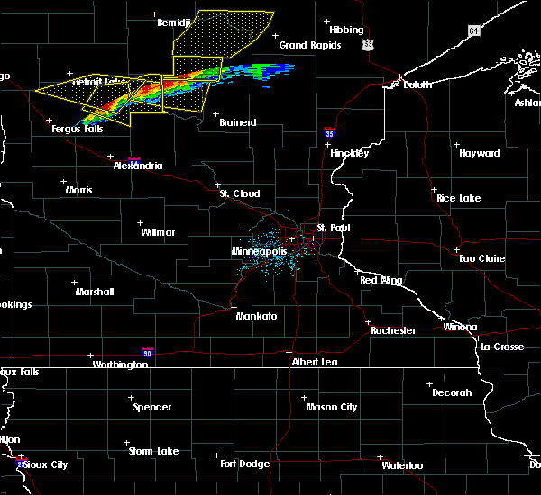 Radar Image for Severe Thunderstorms near Hewitt, MN at 7/17/2020 9:26 PM CDT