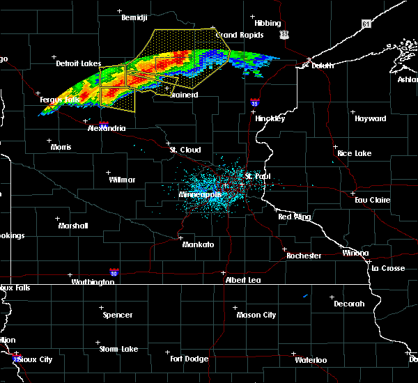Radar Image for Severe Thunderstorms near Merrifield, MN at 7/17/2020 9:59 PM CDT
