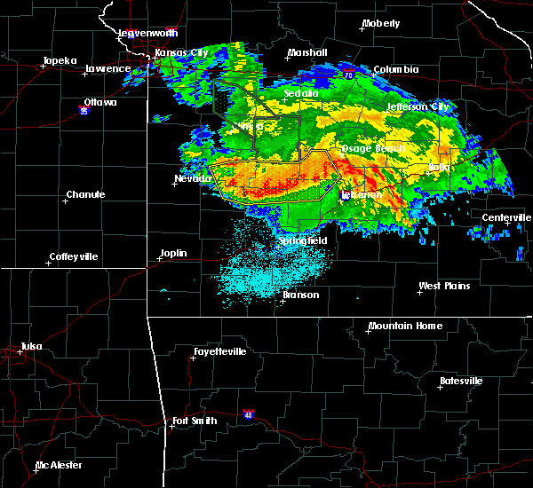 Radar Image for Severe Thunderstorms near Morrisville, MO at 7/1/2015 3:57 AM CDT