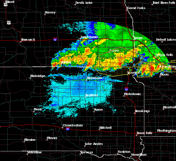 Radar Image for Severe Thunderstorms near Forman, ND at 7/17/2020 10:50 PM CDT