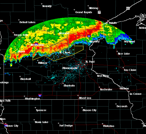 Radar Image for Severe Thunderstorms near Granite Falls, MN at 7/18/2020 12:47 AM CDT