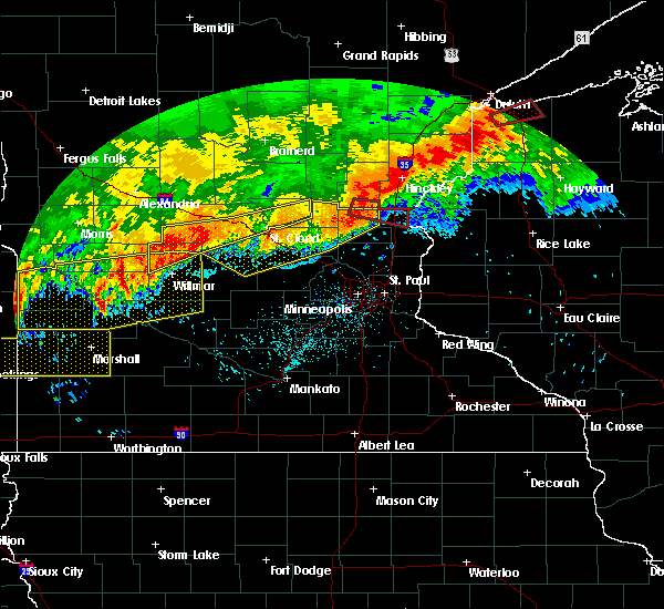 Radar Image for Severe Thunderstorms near Rush City, MN at 7/18/2020 1:19 AM CDT