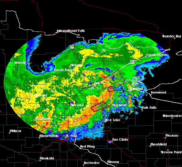Radar Image for Severe Thunderstorms near Minong, WI at 7/18/2020 2:06 AM CDT