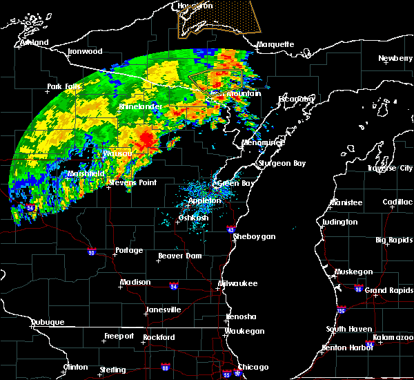 Radar Image for Severe Thunderstorms near Summit Lake, WI at 7/18/2020 5:56 AM CDT