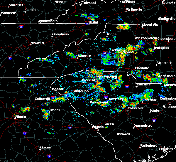 Radar Image for Severe Thunderstorms near Newton, NC at 7/18/2020 4:25 PM EDT