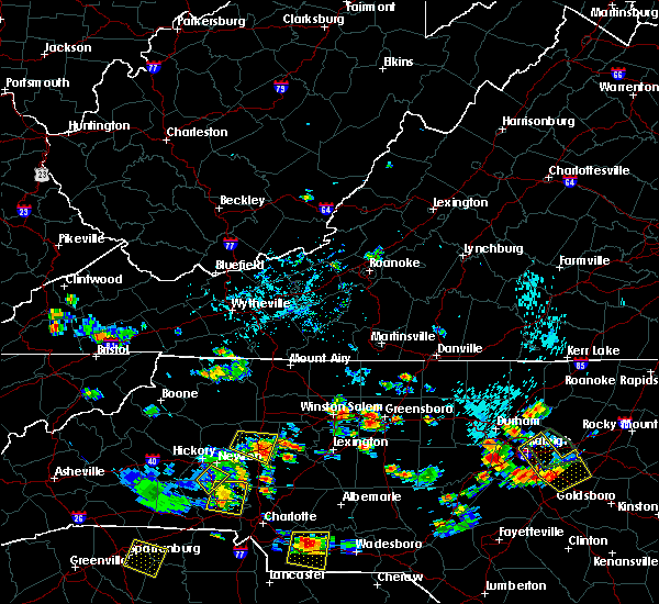 Radar Image for Severe Thunderstorms near Greensboro, NC at 7/18/2020 4:46 PM EDT